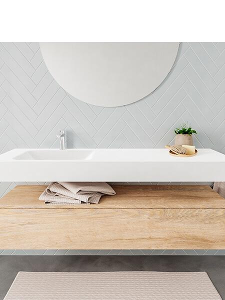 Badkamermeubel met solid surface wastafel model ALAN wit kast washoak front 00021 1