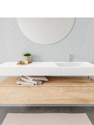 Badkamermeubel met solid surface wastafel model ALAN wit kast washoak front 00022 1