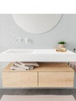 Badkamermeubel met solid surface wastafel model ALAN wit kast washoak front 00025 1