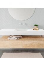 Badkamermeubel met solid surface wastafel model ALAN wit kast washoak front 00032 1