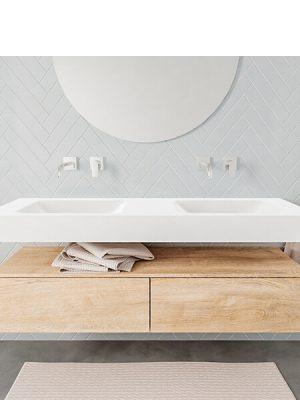Badkamermeubel met solid surface wastafel model ALAN wit kast washoak front 00035 1