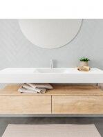 Badkamermeubel met solid surface wastafel model ALAN wit kast washoak front 00036 1