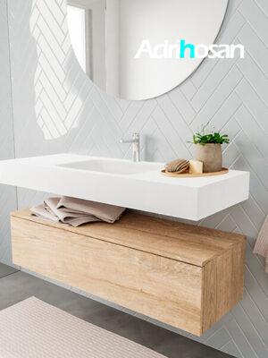 Badkamermeubel met solid surface wastafel model ALAN wit kast washoak side 00012 2