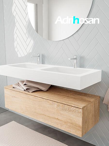 Badkamermeubel met solid surface wastafel model ALAN wit kast washoak side 00015 2