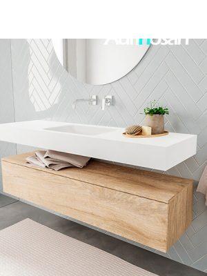 Badkamermeubel met solid surface wastafel model ALAN wit kast washoak side 00016 2