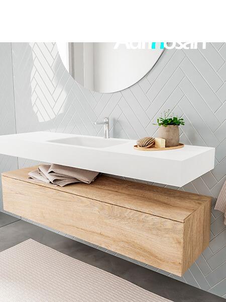 Badkamermeubel met solid surface wastafel model ALAN wit kast washoak side 00020 2