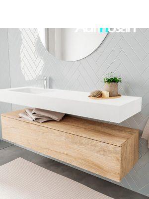 Badkamermeubel met solid surface wastafel model ALAN wit kast washoak side 00021 2