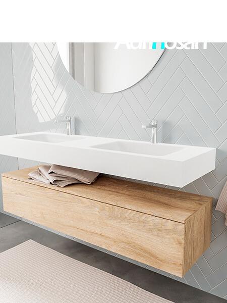 Badkamermeubel met solid surface wastafel model ALAN wit kast washoak side 00023 2