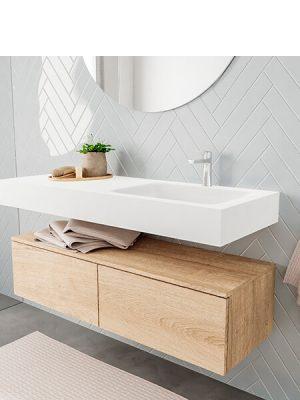 Badkamermeubel met solid surface wastafel model ALAN wit kast washoak side 00030 2