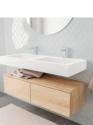 Badkamermeubel met solid surface wastafel model ALAN wit kast washoak side 00031 2