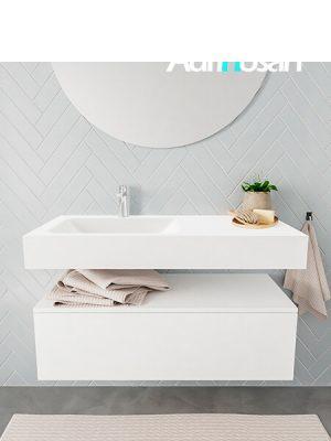 Badkamermeubel met solid surface wastafel model ALAN wit kast white front 00006 1