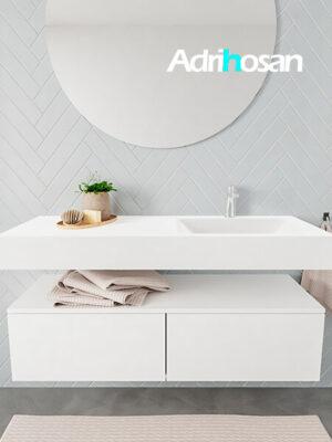Badkamermeubel met solid surface wastafel model ALAN wit kast white front 00030 1