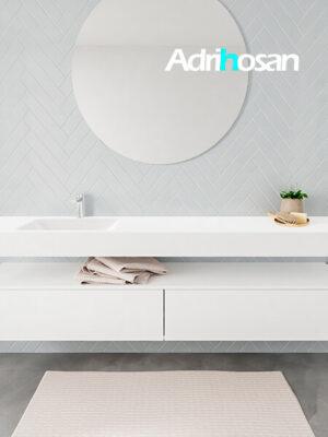Badkamermeubel met solid surface wastafel model ALAN wit kast white front 00045 1