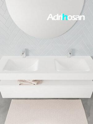 Badmeubel met solid surface wastafel model ALAN wit kast white top 00023 1