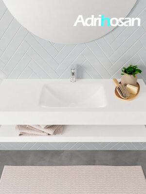 Badmeubel met solid surface wastafel model ALAN wit planchet white top 00012 1