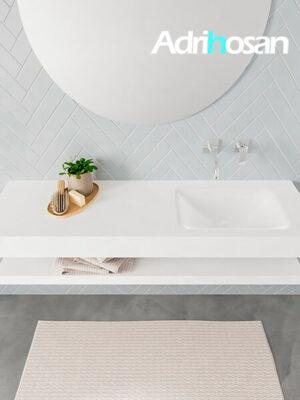 Badmeubel met solid surface wastafel model ALAN wit planchet white top 00018 1