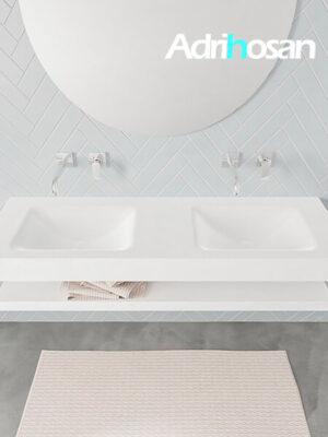 Badmeubel met solid surface wastafel model ALAN wit planchet white top 00019 1