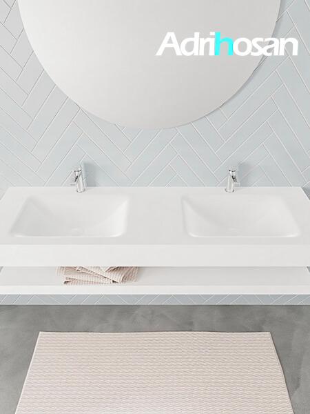 Badmeubel met solid surface wastafel model ALAN wit planchet white top 00023 1