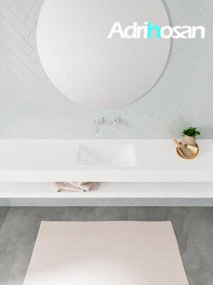 Badmeubel met solid surface wastafel model ALAN wit planchet white top 00040 1
