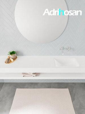 Badmeubel met solid surface wastafel model ALAN wit planchet white top 00042 1
