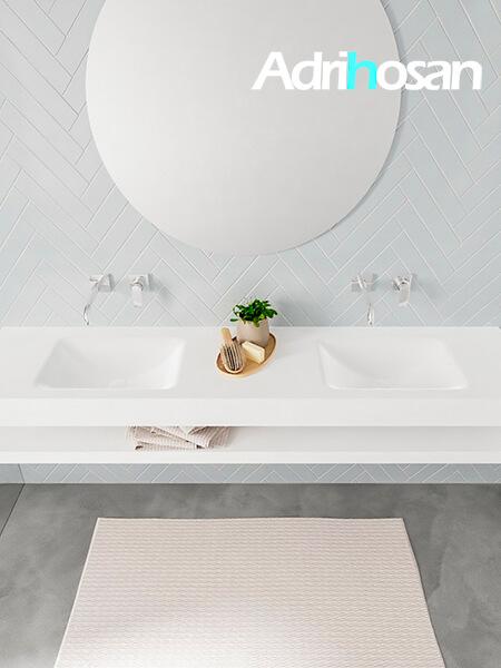 Badmeubel met solid surface wastafel model ALAN wit planchet white top 00043 1