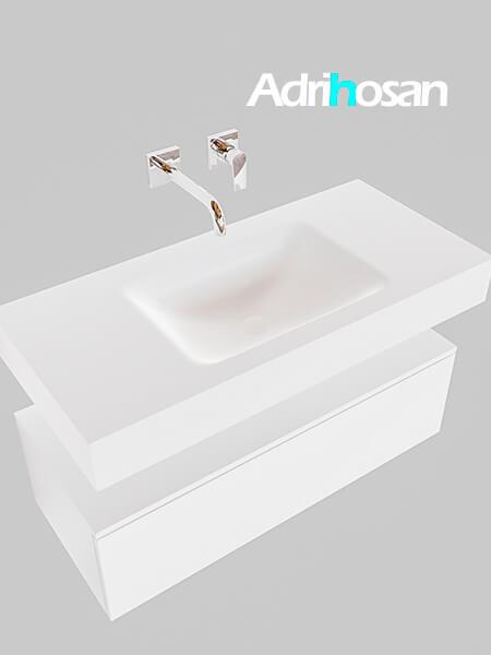 Badmeubel met solid surface wastafel model Google ALAN wit kast wit0002 1