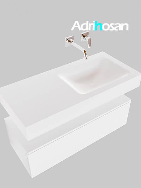 Badmeubel met solid surface wastafel model Google ALAN wit kast wit0004 1