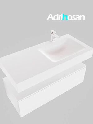Badmeubel met solid surface wastafel model Google ALAN wit kast wit0007 1