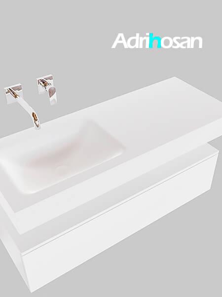 Badmeubel met solid surface wastafel model Google ALAN wit kast wit0009 1