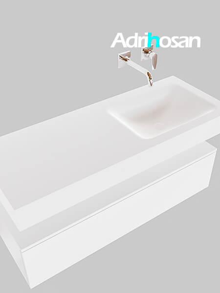 Badmeubel met solid surface wastafel model Google ALAN wit kast wit0010 1