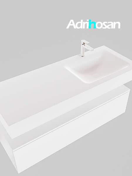 Badmeubel met solid surface wastafel model Google ALAN wit kast wit0014 1