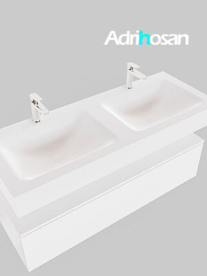 Badmeubel met solid surface wastafel model Google ALAN wit kast wit0015 1