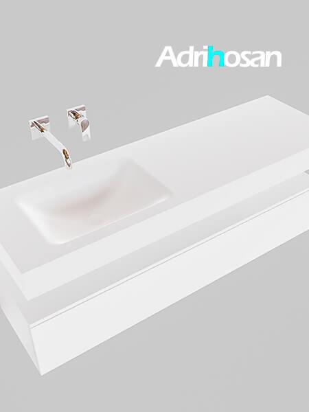 Badmeubel met solid surface wastafel model Google ALAN wit kast wit0017 1