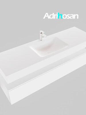 Badmeubel met solid surface wastafel model Google ALAN wit kast wit0020 1