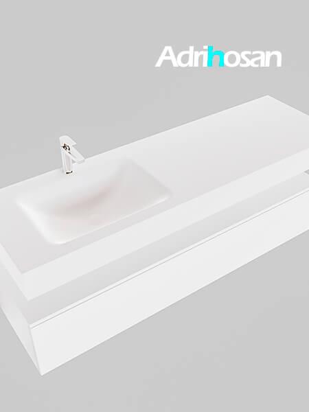 Badmeubel met solid surface wastafel model Google ALAN wit kast wit0021 1