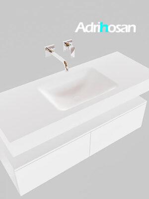 Badmeubel met solid surface wastafel model Google ALAN wit kast wit0024 1