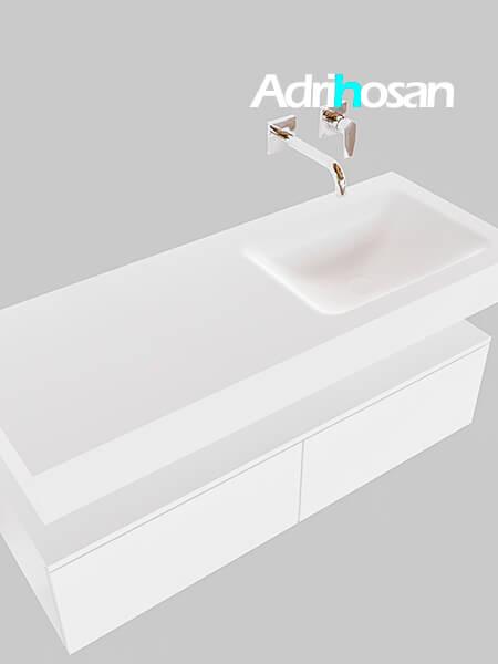 Badmeubel met solid surface wastafel model Google ALAN wit kast wit0026 1