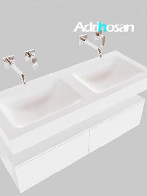 Badmeubel met solid surface wastafel model Google ALAN wit kast wit0027 1