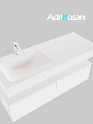 Badmeubel met solid surface wastafel model Google ALAN wit kast wit0029 1