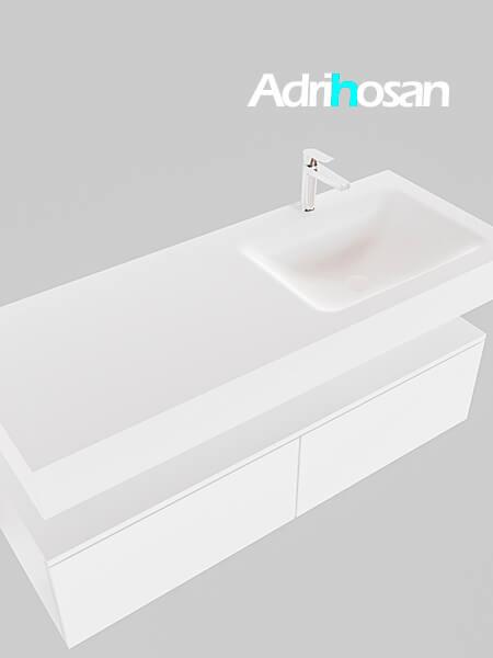 Badmeubel met solid surface wastafel model Google ALAN wit kast wit0030 1