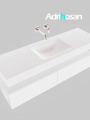 Badmeubel met solid surface wastafel model Google ALAN wit kast wit0032 1
