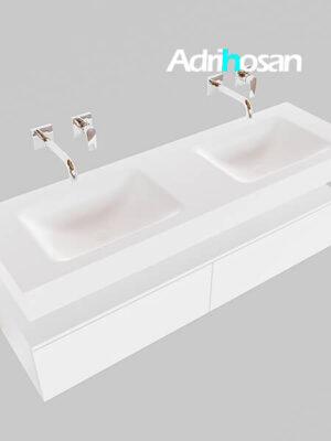 Badmeubel met solid surface wastafel model Google ALAN wit kast wit0035 1