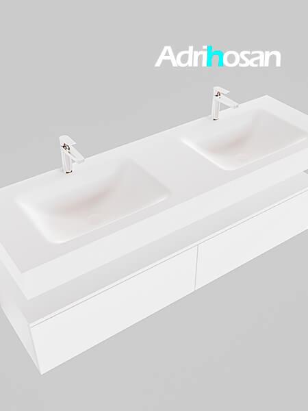 Badmeubel met solid surface wastafel model Google ALAN wit kast wit0039 1