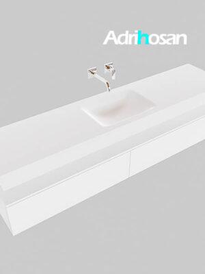 Badmeubel met solid surface wastafel model Google ALAN wit kast wit0040 1
