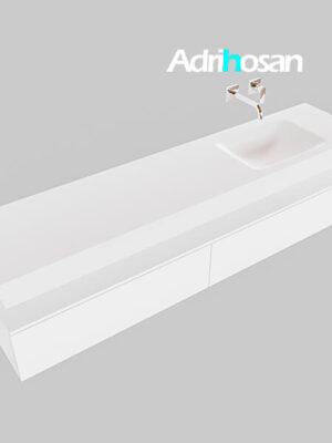 Badmeubel met solid surface wastafel model Google ALAN wit kast wit0042 1