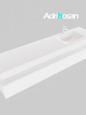 Badmeubel met solid surface wastafel model Google ALAN wit kast wit0046 1