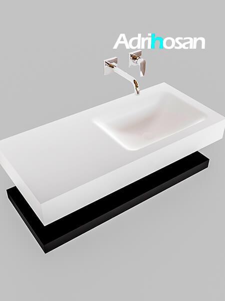 Badmeubel met solid surface wastafel model Google ALAN wit planchet mat zwart0004 1