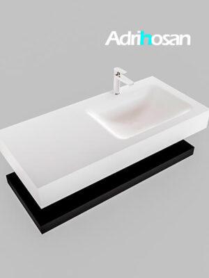 Badmeubel met solid surface wastafel model Google ALAN wit planchet mat zwart0007 1