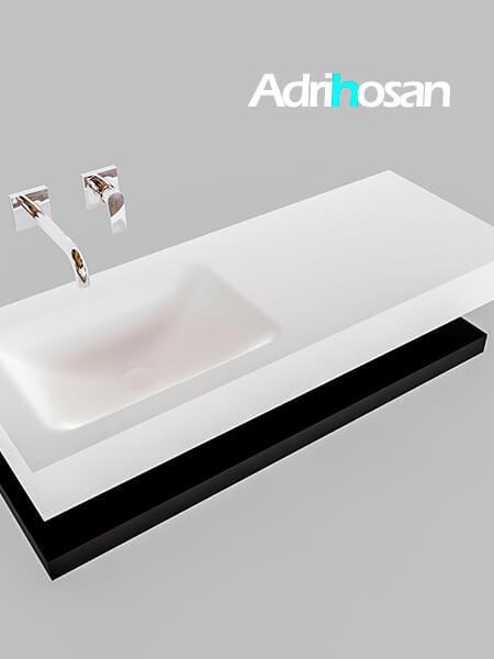 Badmeubel met solid surface wastafel model Google ALAN wit planchet mat zwart0009 1