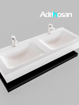 Badmeubel met solid surface wastafel model Google ALAN wit planchet mat zwart0015 1